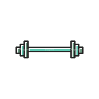 Sports Doodle Barbell Svg & Png Clipart Clip Art - SVG & PNG vector