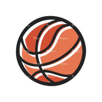 Sports Doodle Basketbaal Svg & Png Clipart Clip Art - SVG & PNG vector
