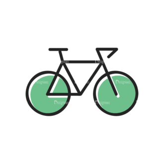 Sports Doodle Bicycle Svg & Png Clipart Clip Art - SVG & PNG vector