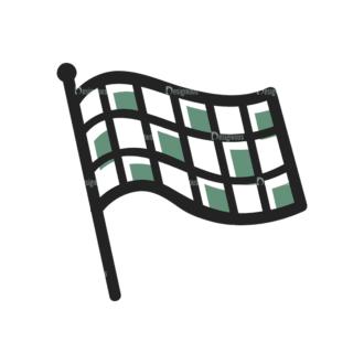Sports Doodle Race Flag Svg & Png Clipart Clip Art - SVG & PNG vector