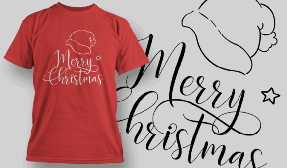 Merry Christmas-T-Shirt-Typography-2150 T-shirt Designs and Templates vector
