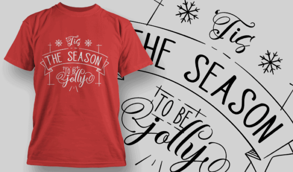 Tis The Season To Be Jolly-T-Shirt-Typography-2153 christmas typography 04 preview