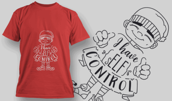 I Have Self Control-T-Shirt-Typography-2154 christmas typography 05 preview