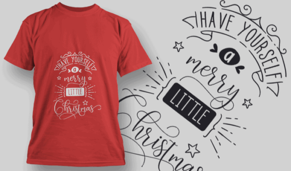 Have Yourself A Merry Little Christmas-T-Shirt-Typography-2155 christmas typography 06 preview