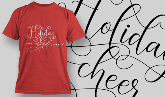 Holiday Cheer-T-Shirt-Typography-2159 christmas typography 10 preview