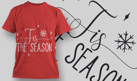 Tis The Season-T-Shirt-Typography-2160 christmas typography 11 preview
