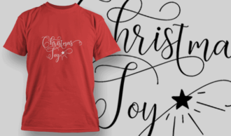 Christmas Joy-T-Shirt-Typography-2167 T-shirt Designs and Templates vector