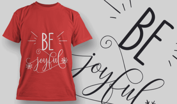 Be Joyful-T-Shirt-Typography-2174 christmas typography 25 preview