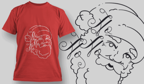 Ho Ho Ho-T-Shirt-Typography-2188 christmas typography 39 preview