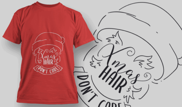 Xmas Hair Dont Care-T-Shirt-Typography-2196 christmas typography 47 preview