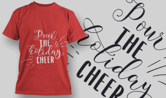 Pour The Holiday Cheer-T-Shirt-Typography-2197 christmas typography 48 preview
