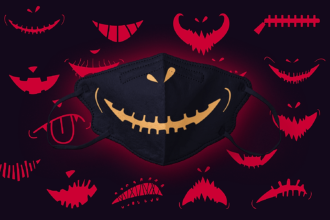 16x Halloween Masks SVG Cut Files Vector packs vector