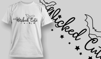 Wicked Cute-T-Shirt-Typography-2231 T-shirt Designs and Templates vector