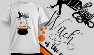 Wicked Witch-T-Shirt-Typography-2235 T-shirt Designs and Templates vector