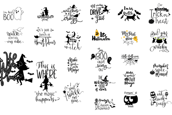 95x Quotes For Halloween Vector packs vector