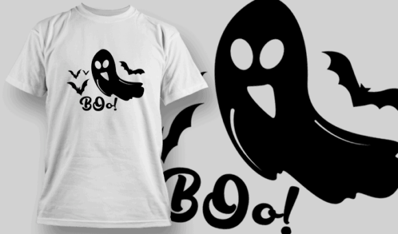 Boo-T-Shirt-Typography-2261 T-shirt Designs and Templates vector