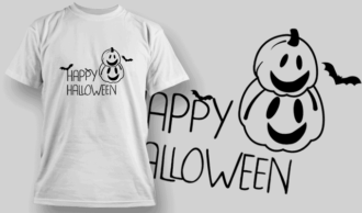 Happy Halloween-T-Shirt-Typography-2268 T-shirt Designs and Templates vector