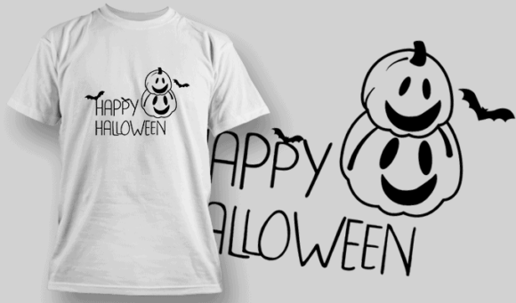 Happy Halloween-T-Shirt-Typography-2268 halloween quotes 39 preview