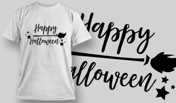 Happy Halloween-T-Shirt-Typography-2269 halloween quotes 40 preview