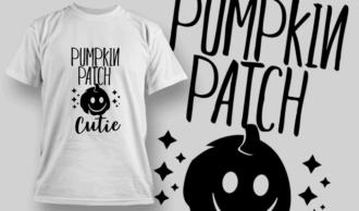 Pumpkin Patch Cutie-T-Shirt-Typography-2273 T-shirt Designs and Templates vector