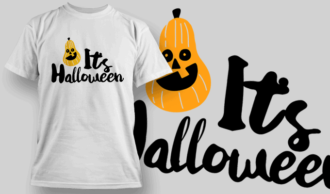 Its Halloween-T-Shirt-Typography-2291 T-shirt Designs and Templates vector