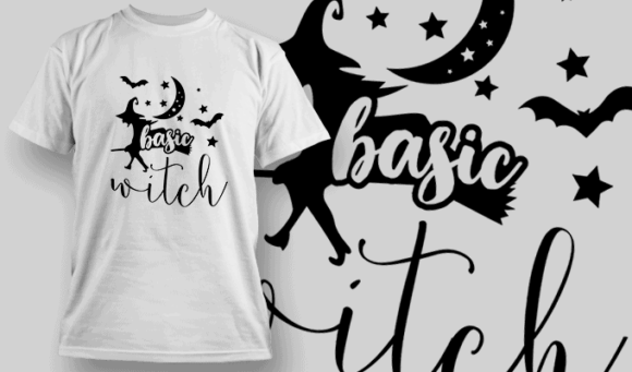 Basic Witch-T-Shirt-Typography-2297 halloween quotes 68 preview