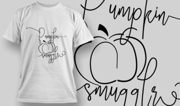 Pumkin-T-Shirt-Typography-2313 T-shirt Designs and Templates vector