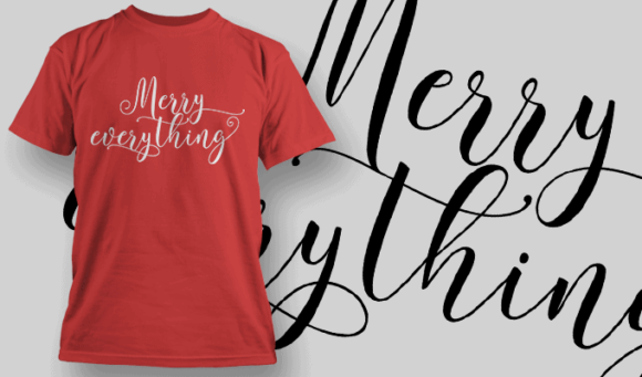 Merry Everything-T-Shirt-Typography-2204 xmas quotes pack 05 preview