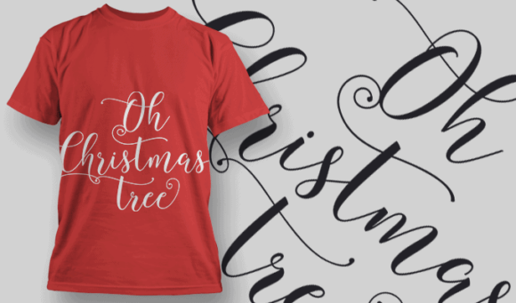 Oh Christmas Tree-T-Shirt-Typography-2214 xmas quotes pack 15 preview