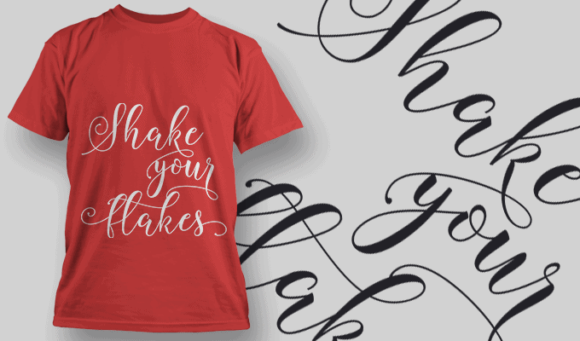 Make Your Flakes-T-Shirt-Typography-2221 xmas quotes pack 22 preview