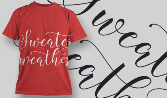 Sweat Weather-T-Shirt-Typography-2222 xmas quotes pack 23 preview