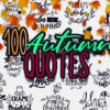 101x Fun & Motivational Quotes For Her AUTUMN bundle