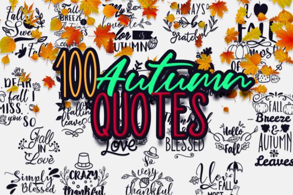 100x Quotes for Autumn AUTUMN bundle