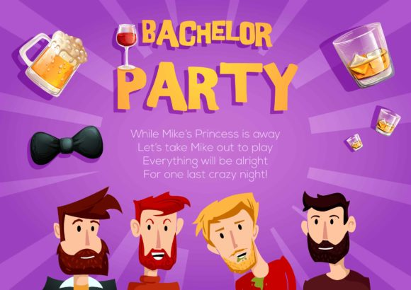 Bachelor Party Vector Invitation Template Bachelor party 01