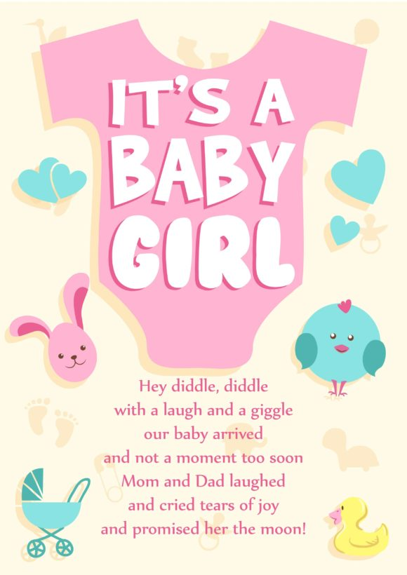 Birth Announcements Vector Invitation Template Birth Announcements 04