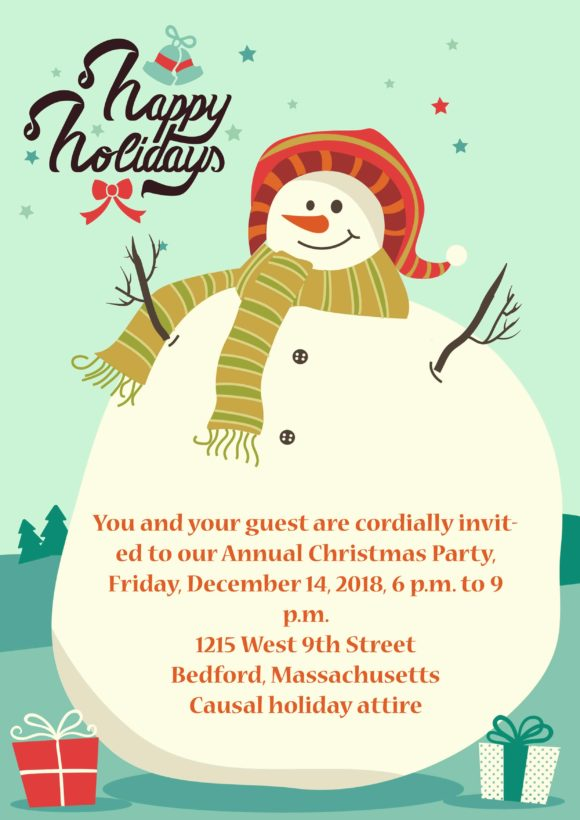Christmas Vector Invitation Template Christmas 01