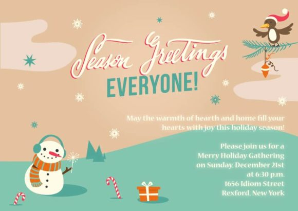 Christmas Vector Invitation Template Christmas 02