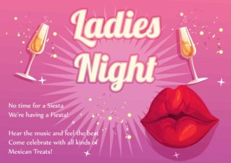Girls Night Vector Invitation Template Vector Illustrations vector