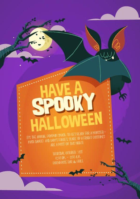 Halloween Vector Invitation Template Halloween 03