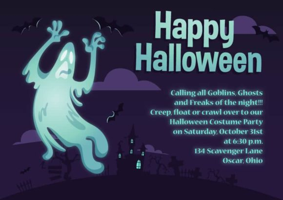 Halloween Vector Invitation Template Halloween 05