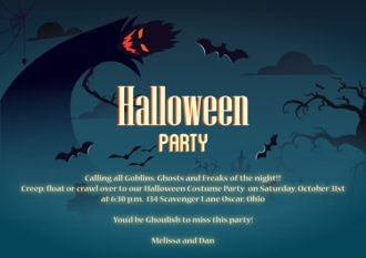 Halloween Vector Invitation Template Vector Illustrations vector