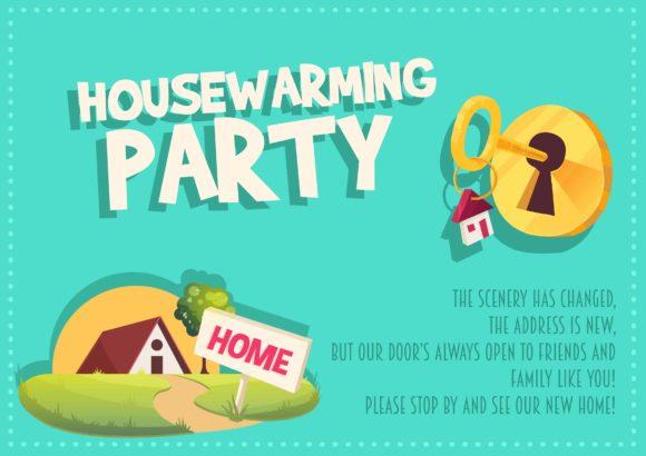 Housewarming Vector Invitation Template Vector Illustrations vector
