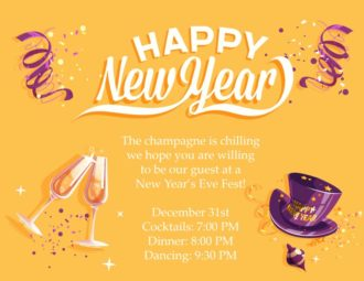 New Year Vector Invitation Template Vector Illustrations vector