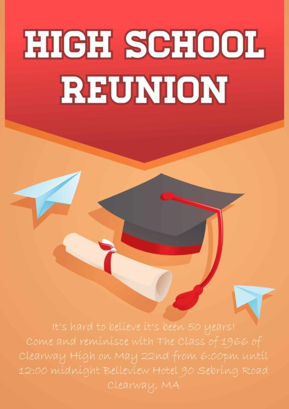 Reunion Vector Invitation Template Vector Illustrations vector