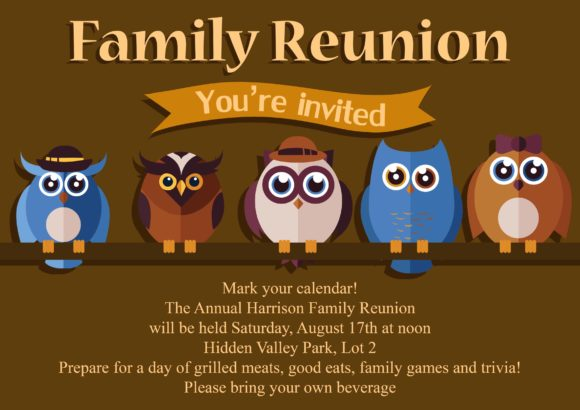 Reunion Vector Invitation Template Reunion 02