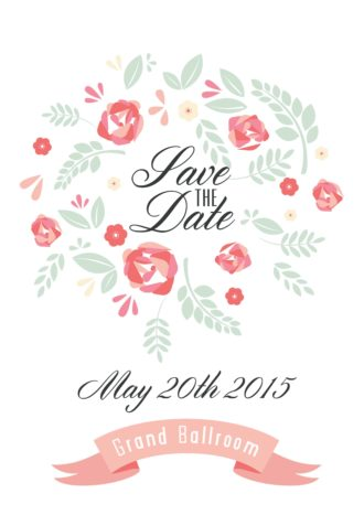 Save The Date Vector Invitation Template Vector Illustrations vector
