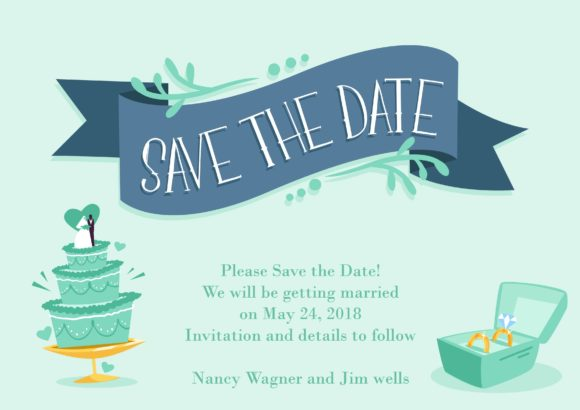 Save The Date Vector Invitation Template Save the date 02