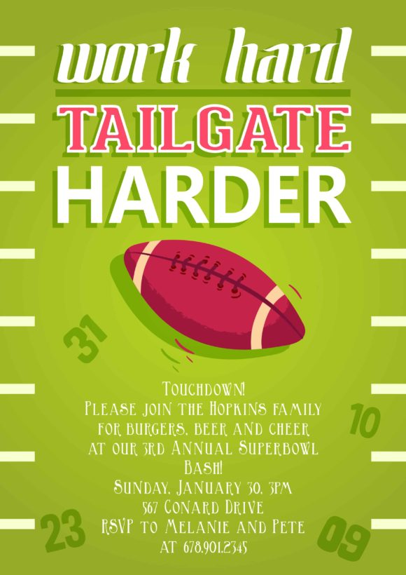 Tailgating Vector Invitation Template Tailgating 01