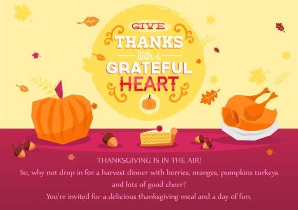 Thanksgiving Vector Invitation Template Thanksgiving 02