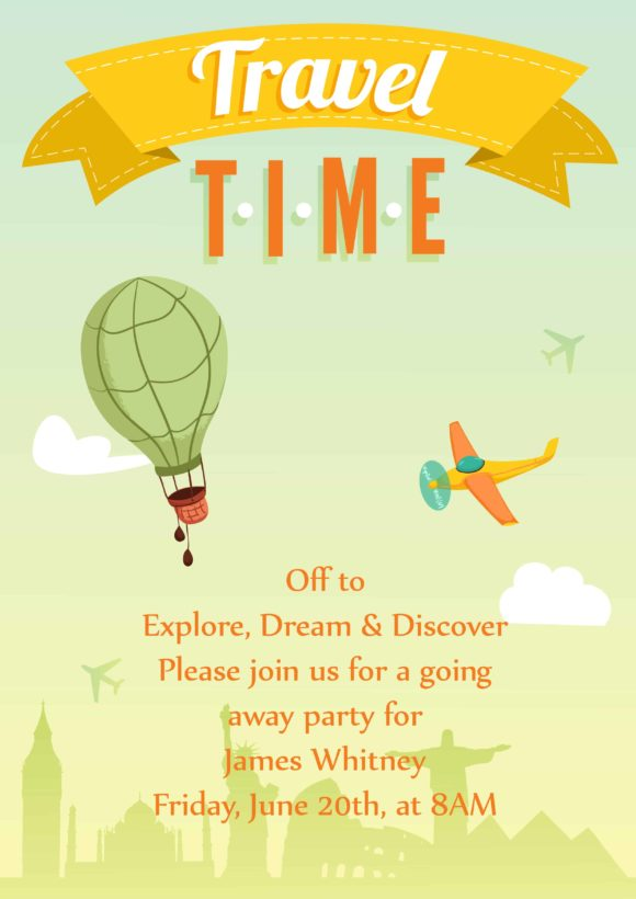Trip Vector Invitation Template Trip 02